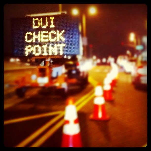 DUI checkpoint bags DUI-ers.