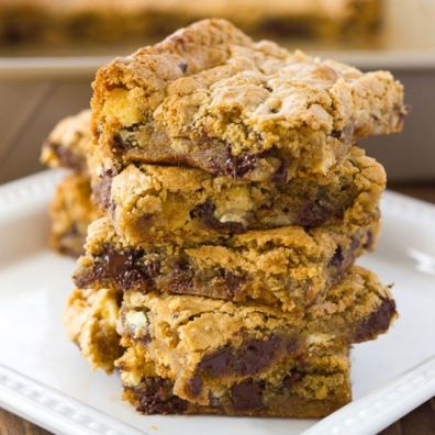 Almond Flour Blondies Nutty flour is not only a lower carb alternative, but it also makes brownies more dense and ooey gooey. Get the recipe at Meaningful Eats.