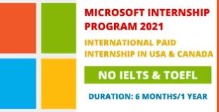 MICROSOFT INTENSHIP PROGRAM FOR UNIVERSITY STUDENTS
