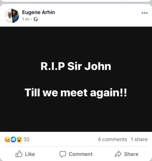 sir john dead