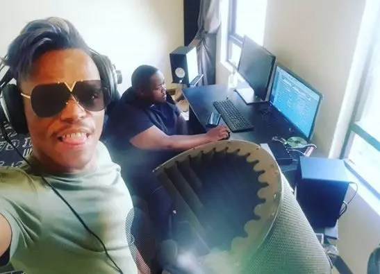 Somizi recording with heavy k