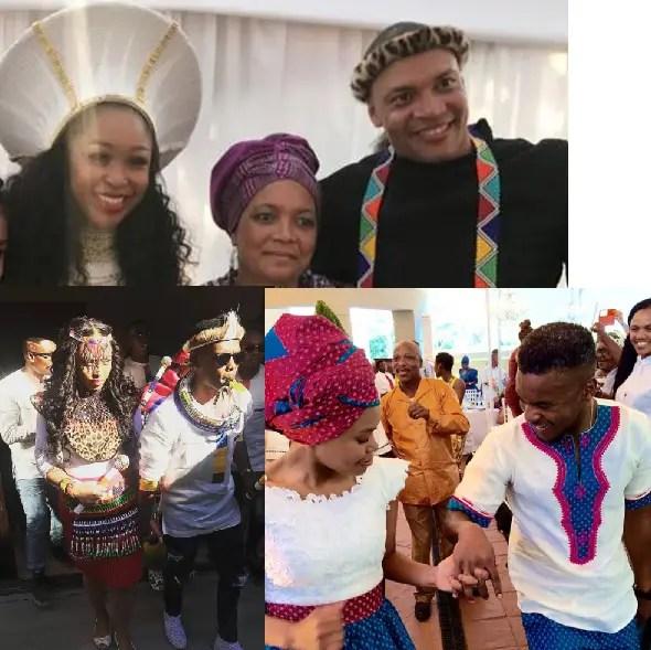 Pictures Of Mzansi Celebrities Amazing Traditional Wedding