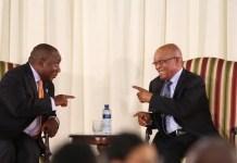 Jacob Zuma and Cyril Ramaphosa