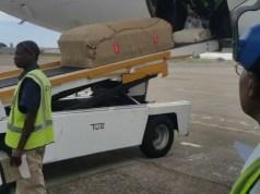Morgan Tsvangirai Body at Airport
