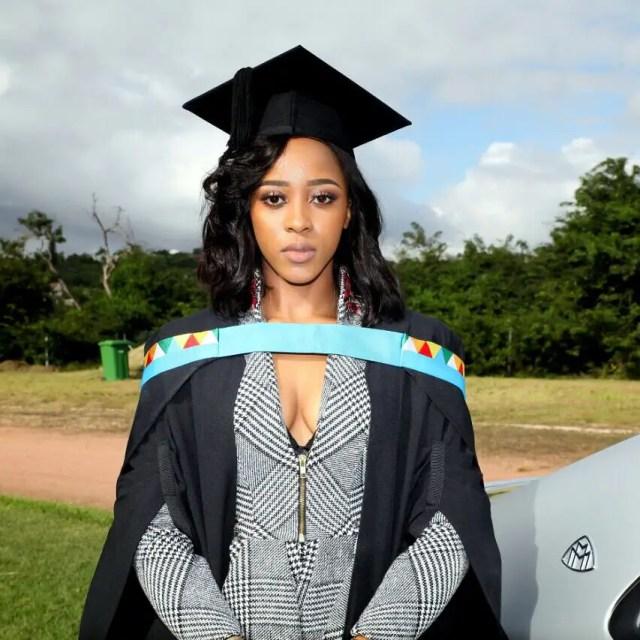 Sbahle Mpisane Graduation Pictures