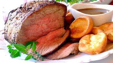 Photo of ROAST BEEF AND YORKSHIRE PUDDINGS – RECIPE