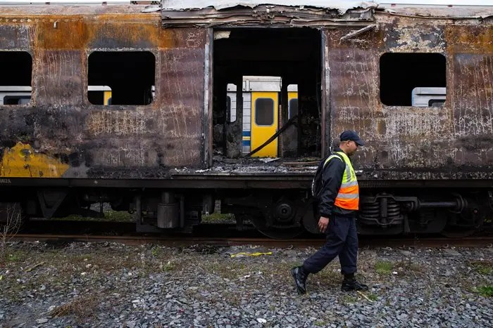 Burning trains