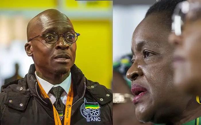 Malusi Gigaba and Bathabile Dlamini