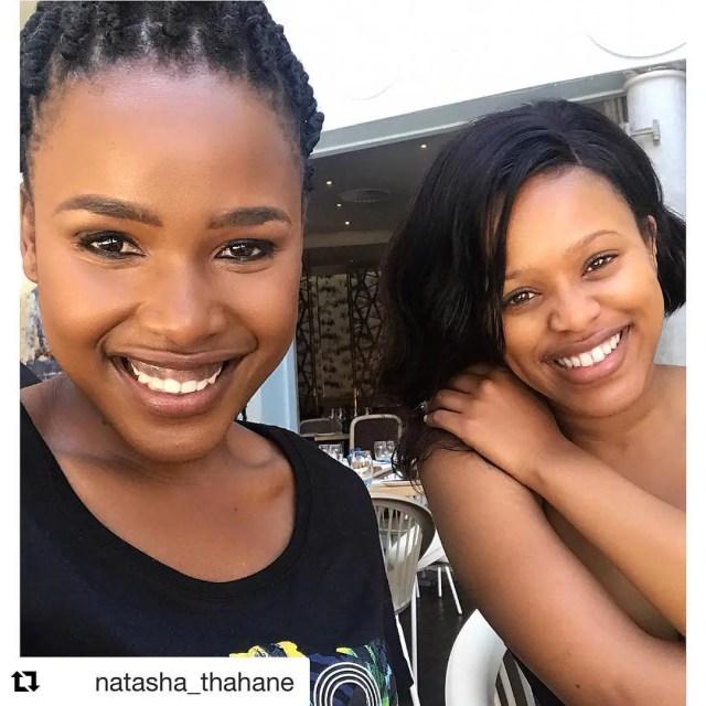 Natasha Thahane and Pretty