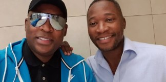 Robert Marawa and Walter Mokoena