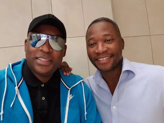 Robert Marawa and Walter Mokoena