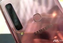 Samsung Galaxy A9 with 4 rear cameras