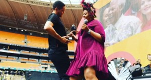 Anele Mdoda and Trevor Noah