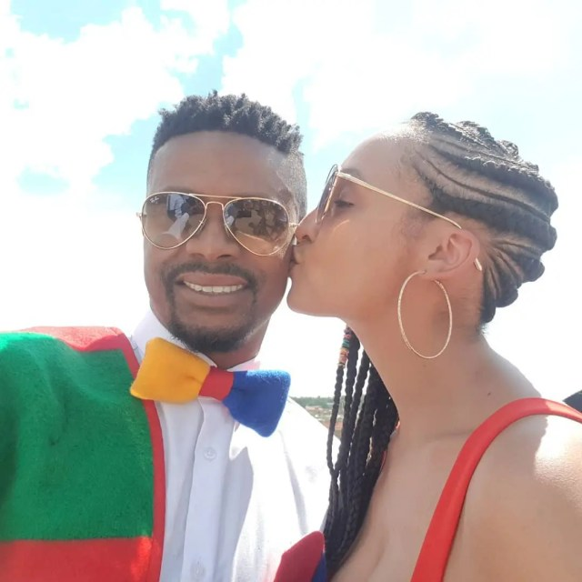 Kagiso Modupe and wife