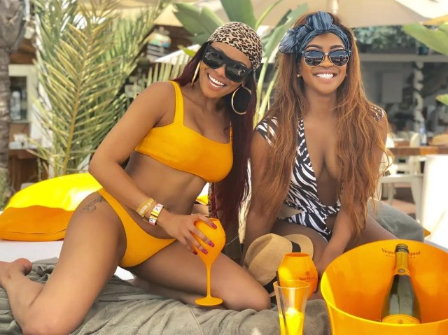 Lorna Maseko and Bonang Matheba
