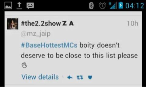MTV Base tweet