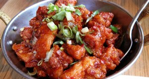 Sticky chilli chicken