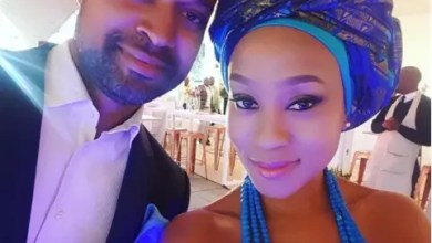 Photo of Scandal actress Kgomotso Christopher celebrates 15-year anniversary with husband