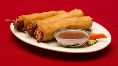 Chicken and prawn rolls