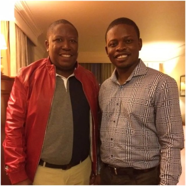 Julius Malema and Prophet Bushiri