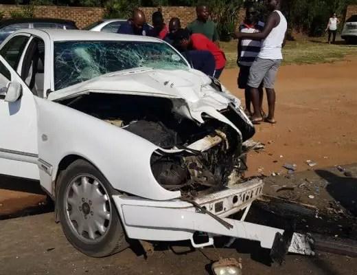 Mercedes crash