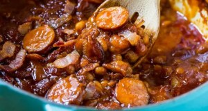 Homemade baked beans