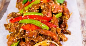 Sticky stir-fried beef