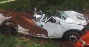 Bakkie driver crushed