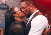 DJ Zinhle and AKA kiss