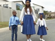 Dineo ranaka and her kids