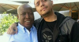 Julius Malema and trevor Noah