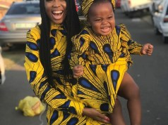 Ntando Duma and her daughter