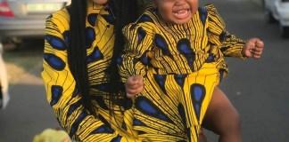 Ntando Duma and her daughter