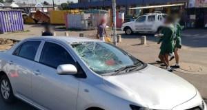 Pedestrian struck down
