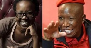 Julius Malema and Ntsiki Mazwai
