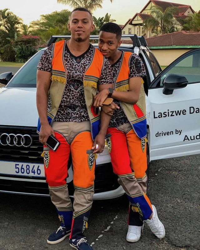 Lasizwe shows off his new car