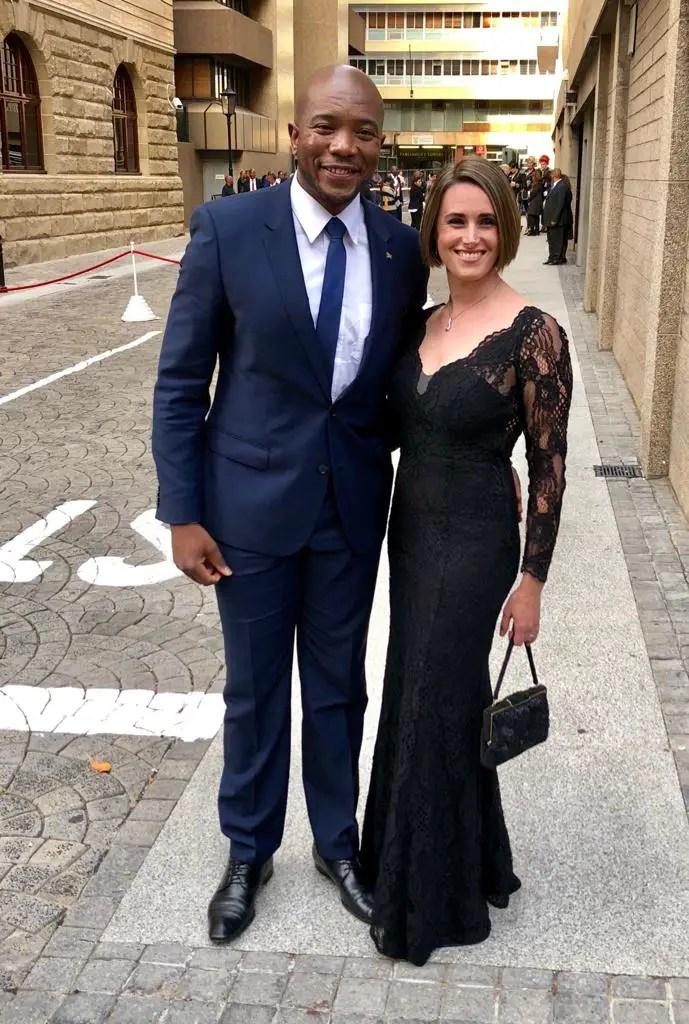 Mmusi Maimane and his wife