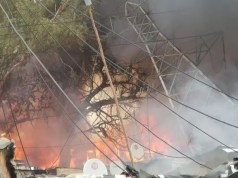 Alex substation fire