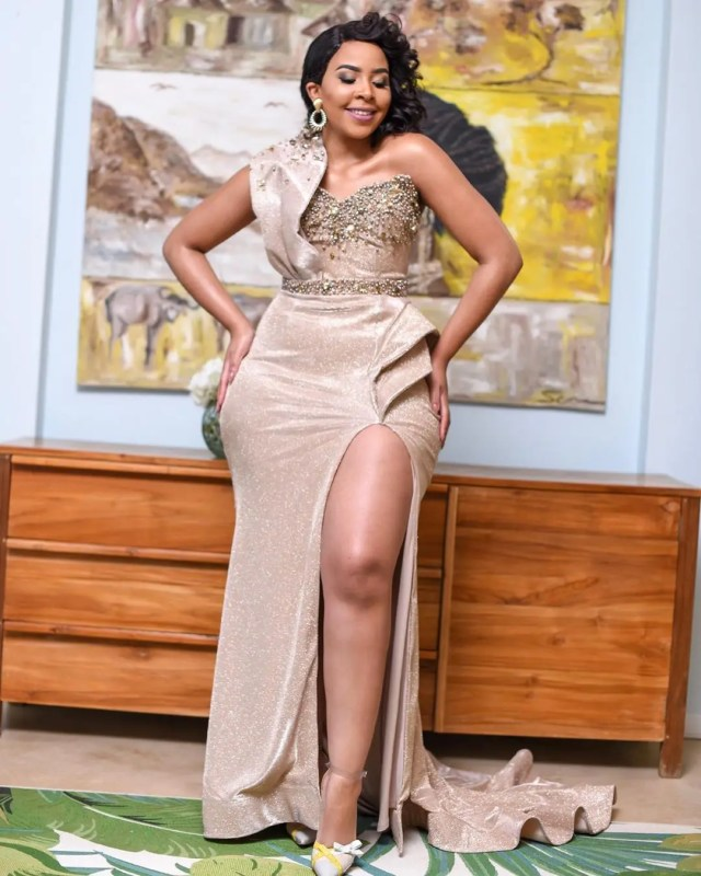 Brown Mbombo looking amazing at Vodacom Durban July 2019