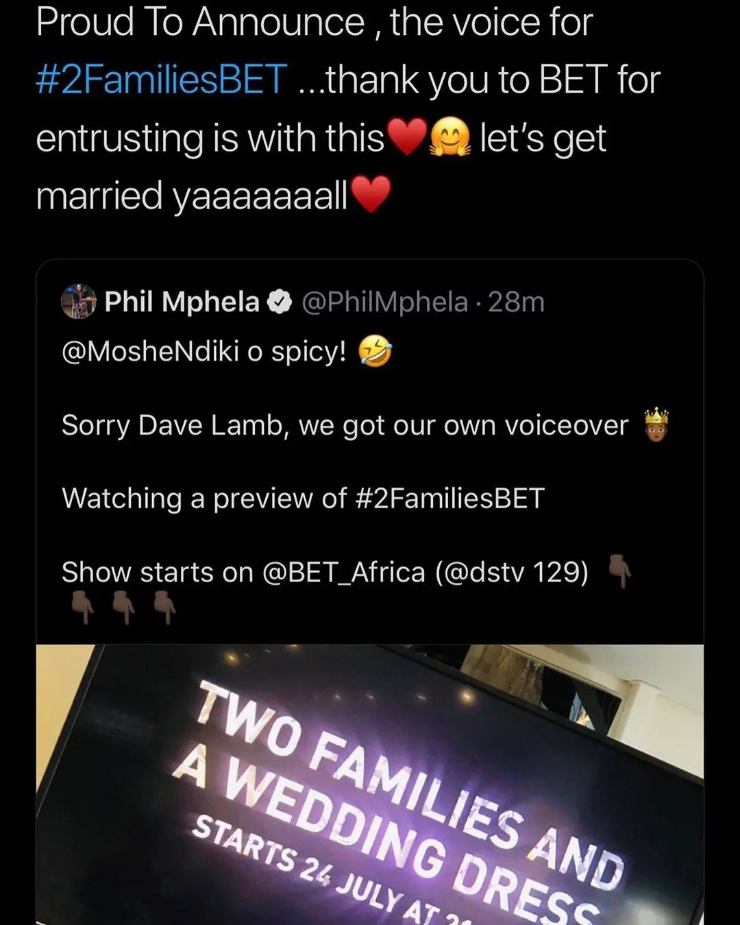 Moshe Ndiki will co-host new BET wedding reality show