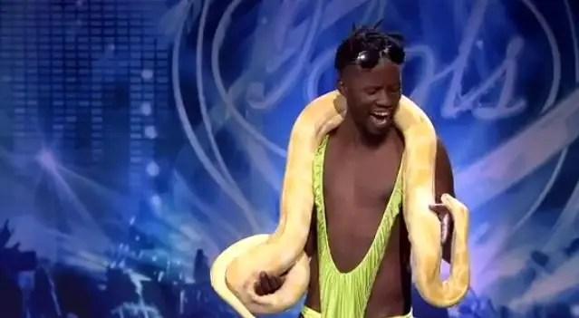 Ntando and his yellow snake
