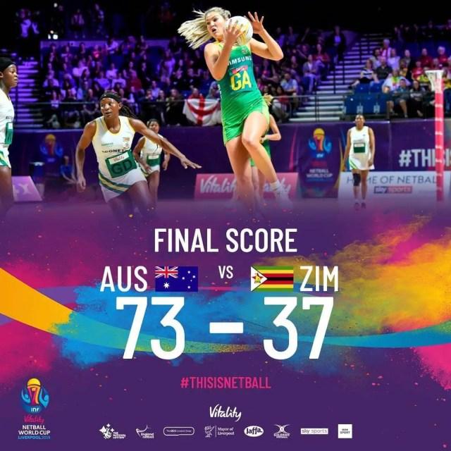 Zimbabwe loses to Australia