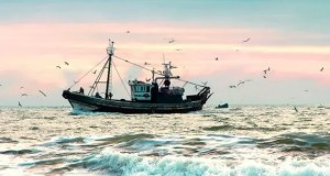 capsized fishing trawler