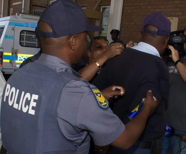 SAPS officers arrested