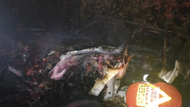 Bakkie Destroyed in Durban North