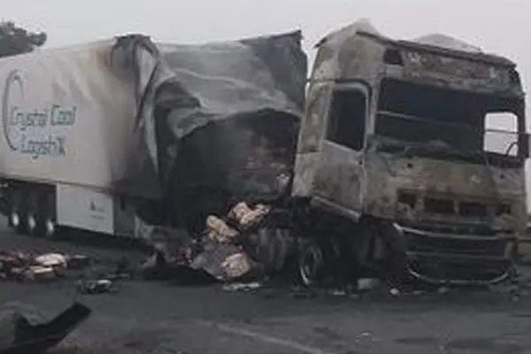 Four trucks were petrol bombed
