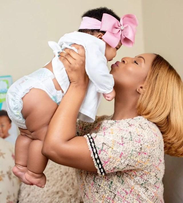 Jessica Nkosi and Baby