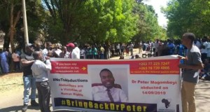 Peter Magombeyi protest