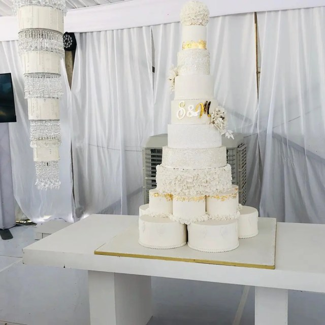 10 layer cake for Somizi and Mohale Traditional Wedding