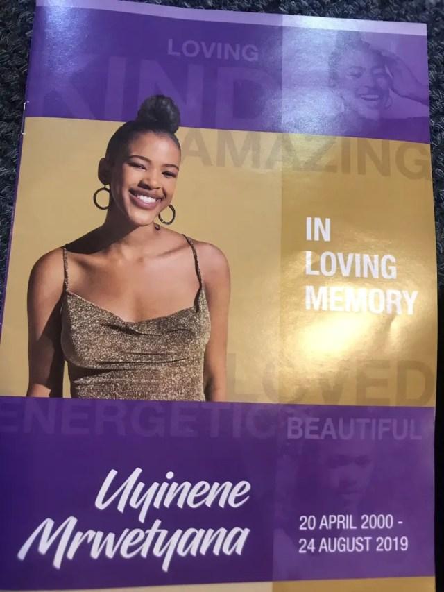 Uyinene Mrwetyana